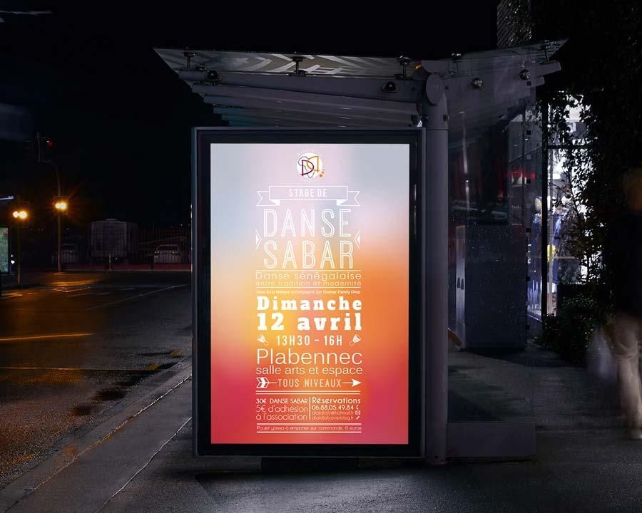 Affiche pour l'association Dialdiali
