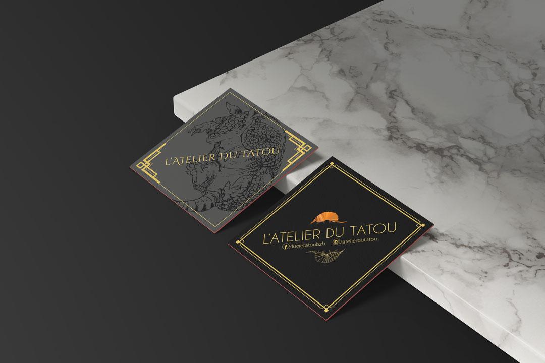 Carte de visite Atelier du Tatou